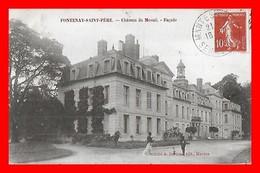 CPA (78) FONTENAY-SAINT-PERE.  Château Du Mesnil, Façade, Animé, Chien...C421 - Francia