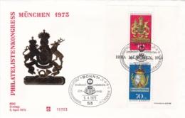 Germany FDC 1973 Philatelistenkongress Souvenir Sheet (DD13-45) - Expositions Philatéliques