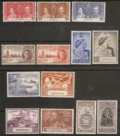 ANTIGUA 1937 - 1949 COMMEMORATIVE SETS INCLUDING 1948 SILVER WEDDING MOUNTED MINT Cat £25+ - Antigua & Barbuda (...-1981)