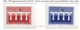 PIA  -  FAROER  -  1984  :  Europa  (Yv  91-92) - Europa-CEPT