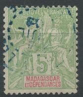 Lot N°48392  MADAGASCAR N°42A, Oblit Cachet à Date Bleu A Déchiffrer - Oblitérés