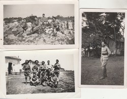 Lot 3 Photos Format 11,5 X 7,5 Cm - 1937 Militaires La Madeleine ( Horizontales ) Et Montpellier ( Verticale ) - Guerre, Militaire