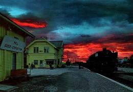 CPM - HELL - Vue De La Gare  ... (Train) - Norwegen