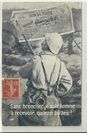 BON DE POSTE DE 15 FRANCS / SANS BRONCHER JE SUIS HOMME A RECEVOIR QUINZE BALLES - Patriotic