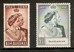 BAHAMAS 1948 SILVER WEDDING SET MOUNTED MINT Cat £45+ - Bahamas (...-1973)