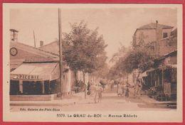 Le Grau Du Roi. Gard (30). Avenue Rédarès. Carte Animée, épicerie De L'horloge. - Le Grau-du-Roi
