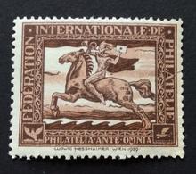"PHILATELIA 1929  FEDERATION  INTERNATIONALE  PHILATELIE  ""PHILATELIA ANTE OMNIA"" - Erinnofilia"