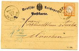 "Nr. 189 EF ""ERFURT"" Klarer K 2 Nach München - Rs. Briefträgerstempel - Briefe U. Dokumente"