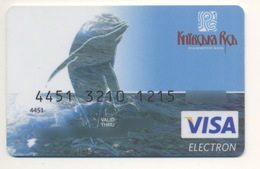 Credit Card Fauna Dolphin Bankcard Kievan Rus Bank UKRAINE VISA Expired - Geldkarten (Ablauf Min. 10 Jahre)