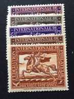 "PHILATELIA 1929  FEDERATION  INTERNATIONALE  PHILATELIE  ""PHILATELIA ANTE OMNIA"" EMISSIONE COMPLETA - Erinnofilia"