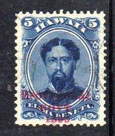 APR572 - HAWAII 1893 , Yvert N. 47  Usato - Hawaii