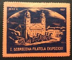 DEBRECEN  UNGHERIA  I DEBRECENA FILATELA EKSPOZICIO  1927 - Erinnofilia