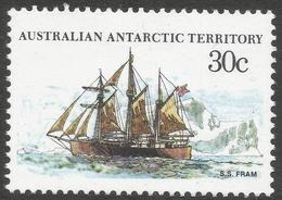 Australian Antarctic Territory. 1979 Ships. 30c MH. SG 46 - Neufs