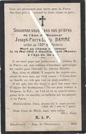 Ebblinghem - Haudiomont : Image Mortuaire BAMME Pierre Jh Louis (guerre 14/18) - Soldat 120ème R.I. - Décès