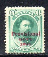 APR577 - HAWAII 1893 , Yvert N. 49  *  Linguelle Pesanti - Hawaii