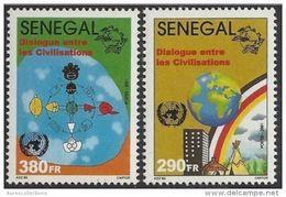 SENEGAL Dialogue Among Civilizations Civilisations FULL SET 2001 - 2002 MNH - Sénégal (1960-...)