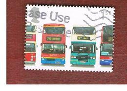 GRAN BRETAGNA.GREAT BRITAIN -  SG 2214  -  2001 DOUBLE-DECKER BUS: DAIMLER...ETC....   - USED - 1952-.... (Elisabetta II)
