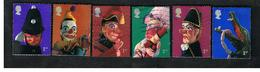 GRAN BRETAGNA.GREAT BRITAIN -  SG 2224.2229  -  2001 PUNCH & JUDY  SHOW PUPPETS (COMPLET SET OF 6) - USED - 1952-.... (Elisabetta II)