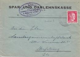 P Lettre à Entête (S.u.D. Neeweiler Bei Laut) Obl (T329 Niederlauterbach Unterels A) Sur TP Reich 12pf=1°éch Le 10/11/42 - Marcophilie (Lettres)
