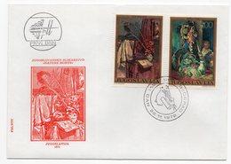 """YUGOSLAVIA, FDC, 28.11.1992, COMMEMORATIVE ISSUE: YUGOSLAV ART """" NATURE MORTE"""" - 1992-2003 Federal Republic Of Yugoslavia"""