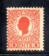 APR583 - ANTILLE DANESI 1905 , Yvert N. 28 * Linguellato - Danimarca (Antille)