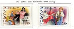 PIA  -  FAROER  -  1985  :  Europa - Anno Europeo Della Musica -  (Yv  110-11) - Europa-CEPT
