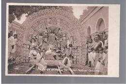 INDIA Calcutta - The Durga Of The Durge Pujah Festival Ca 1910 OLD POSTCARD - India