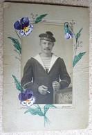 """Photo  1914-18  -marin - Beret Ponpon """"patrie"""" Bizerte - Oorlog, Militair"""