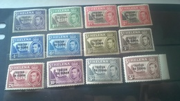 """1952 St. Helena Postage Stamps Overprinted """"TRISTAN DA CUNHA"""" - Tristan Da Cunha"""