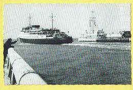 * Oostende - Ostende (Kust - Littoral) * (Uitgave Mess Driekroezen) Maalboot Oostende Dover, La Malle Bateau, Boat - Oostende