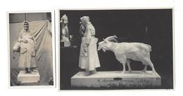 J. Rémy  Paysanne Et Chèvre - Envoi Autographe De L'auteur à Albert Anciaux D'Elsberg  ( Vers 1930 ) - Bronzes