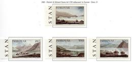 PIA  -  FAROER  -  1985  :  La Spedizione Stanley Del 1789 - Dipinti Di Edward Days -  (Yv 106-09) - Isole Faroer