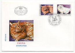 YUGOSLAVIA, FDC, 25.06.1992, COMMEMORATIVE ISSUE: FAUNA - 1992-2003 Federal Republic Of Yugoslavia