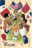 CPA - Fantaisie - Fantasy Card - WELCOME ! - Guerra 1939-45