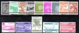 APR598 - BANGLADESH 1973 , Ordinaria Serie Yvert N. 27/40  *** - Bangladesh