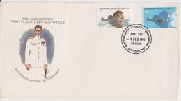 AAT 1980 First Flight Over South Pole 2v FDC Ca Casey 9 Feb. 1980 (42477) - FDC