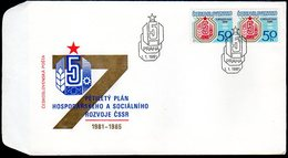 CZECHOSLOVAKIA 1981 5-Year Plan FDC.  Michel 2596 - FDC