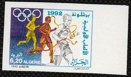 Non-dentelé/Année 1992-N°1020 Neuf**MNH/imperforate :  Jeux Olympiques De Barcelone   (md) - Algeria (1962-...)