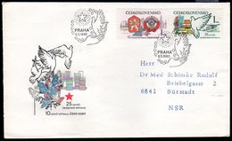 CZECHOSLOVAKIA 1980 Treaty Anniversaries FDC.  Michel 2569-70 - FDC