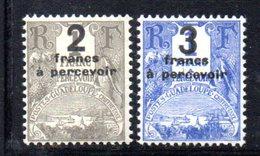 APR601 - GUADELOUPE 1926 , TASSE Yvert Serie N. 23/24  *  Linguellati - Guadalupe (1884-1947)