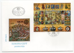 YUGOSLAVIA, FDC, 05.05.1992, COMMEMORATIVE ISSUE:  EUROPA CEPT, SOUVENIR SHEET, BLOCK - 1992-2003 Federal Republic Of Yugoslavia