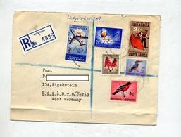Lettre  Recommandee Nelspruit Sur Oiseau Fleur Avion Acier  + Vignette Kolping House  Noel - Afrique Du Sud (1961-...)