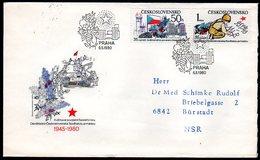 CZECHOSLOVAKIA 1980 Liberation Anniversaries FDC.  Michel 2567-68 - FDC