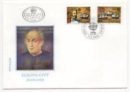 YUGOSLAVIA, FDC, 05.05.1992, COMMEMORATIVE ISSUE:  EUROPA CEPT, CHRISTOPHER COLUMBUS - 1992-2003 Federal Republic Of Yugoslavia