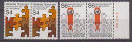 UNO Wien 1981 Intern. Jahr Der Behinderten 2v (pair) ** Mnh (42479B) - Ongebruikt