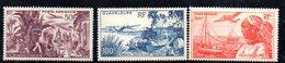 APR602 - GUADELOUPE 1947 , Posta Aerea Yvert Serie N. 13/15  ***  MNH - Guadalupe (1884-1947)