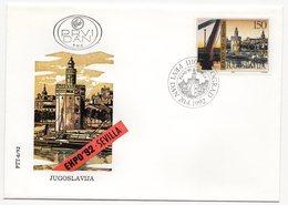 YUGOSLAVIA, FDC, 20.04.1992, COMMEMORATIVE ISSUE: EXPO 92- SEVILLA - 1992-2003 Federal Republic Of Yugoslavia