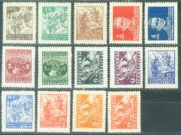 YU 1945-470-85 DEFINITIVE, YUGOSLAVIA, Michel # 470-85, 16v, Mint, ** - Nuovi