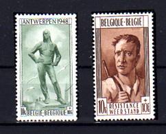 1948  Belgique,  Libération à Anvers Et Résistance à Liège, 785 / 786* (scotch Au Dos, Bouche Case), Cote 37,50 €, - Belgium