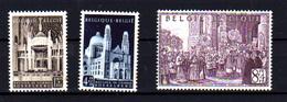 1952  Belgique, Cardinalat De Monseigneur Van Roey, 876 / 878** Rouille Au Dos, (bouche Case), Cote 42,50 € - Unused Stamps